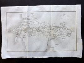Paterson 1826 Map of the Mail Road from London to Holyhead. England Wales